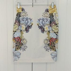 H&M Floral Print Pencil Skirt